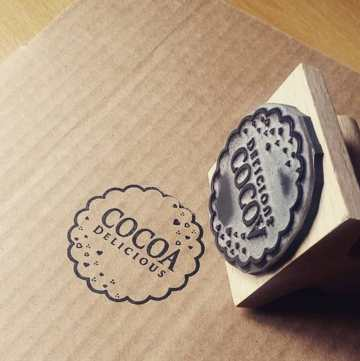 Custom label stamps